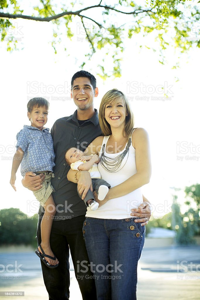 Family Outdoors on Warm Summer Day royalty-free stock photo