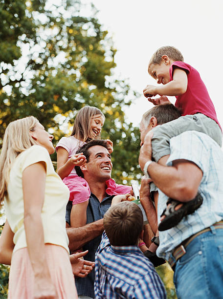 Family outdoors  age contrast stock pictures, royalty-free photos & images