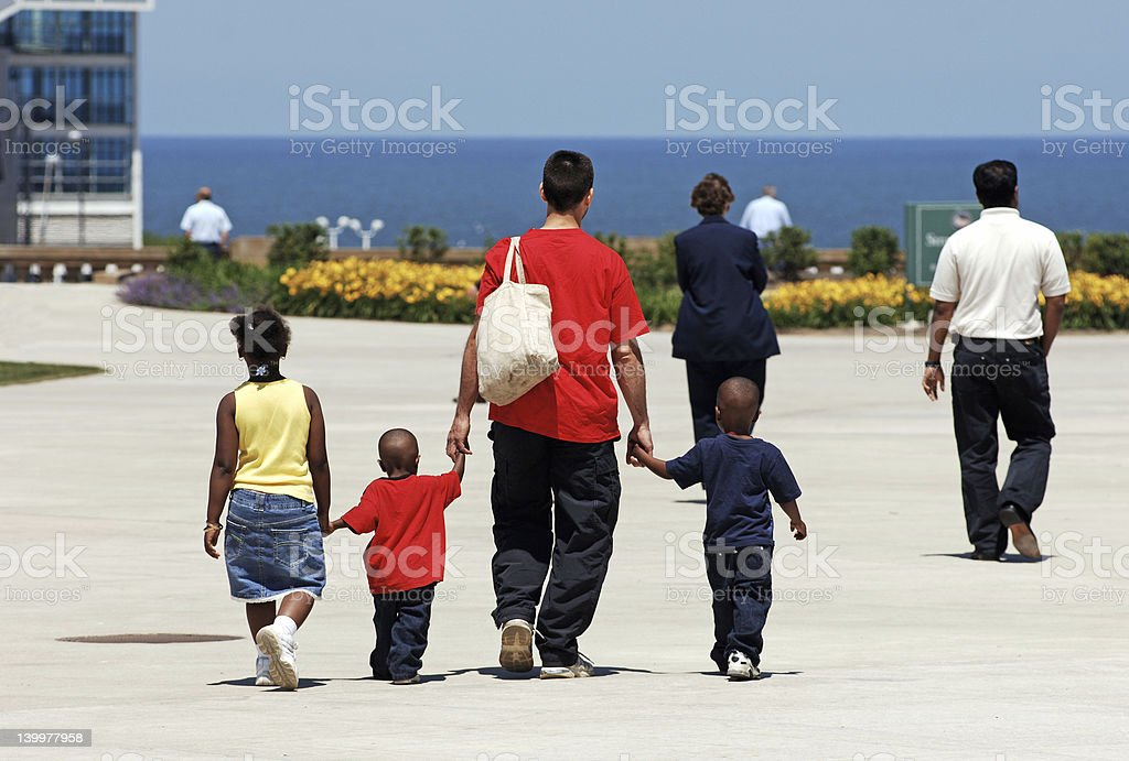Family outing royalty-free stock photo