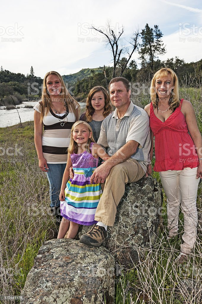 Family Outing stock photo