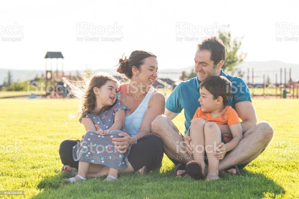 Sortie de l'aire de jeu de famille - Photo