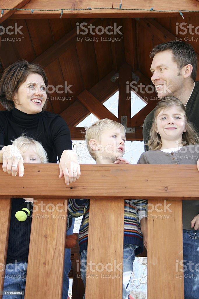 Family Outside royalty-free stock photo