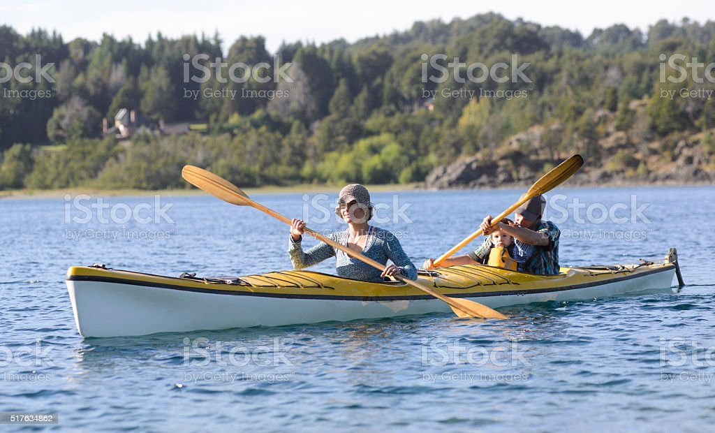 Family Paddling stock photo