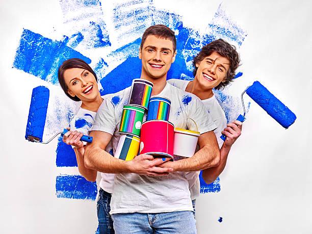 Familie Farbe Wand wie zu Hause fühlen. – Foto