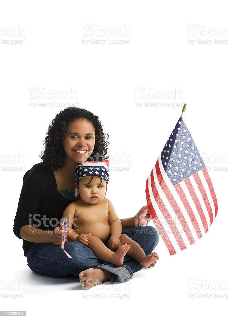 Familia Patriots - foto de stock