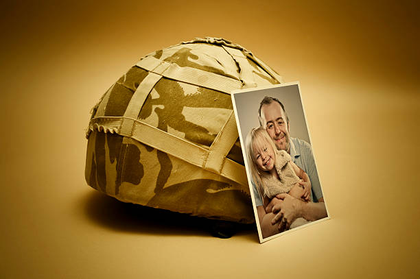 family photo at war - uk military stock photos and pictures