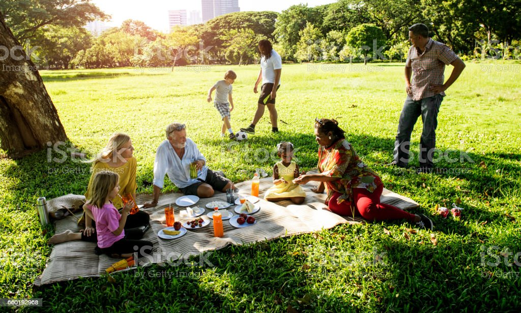 Family Picnic Outdoors Togetherness Relaxation Concept - Photo