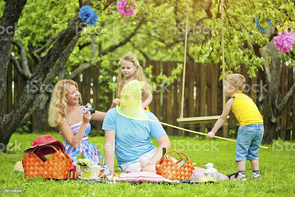 Family picnic royalty-free stock photo
