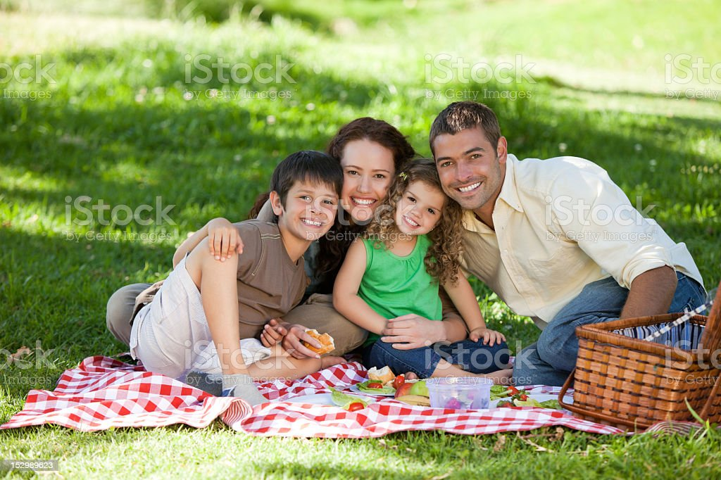 Family  picnicking together royalty-free stock photo