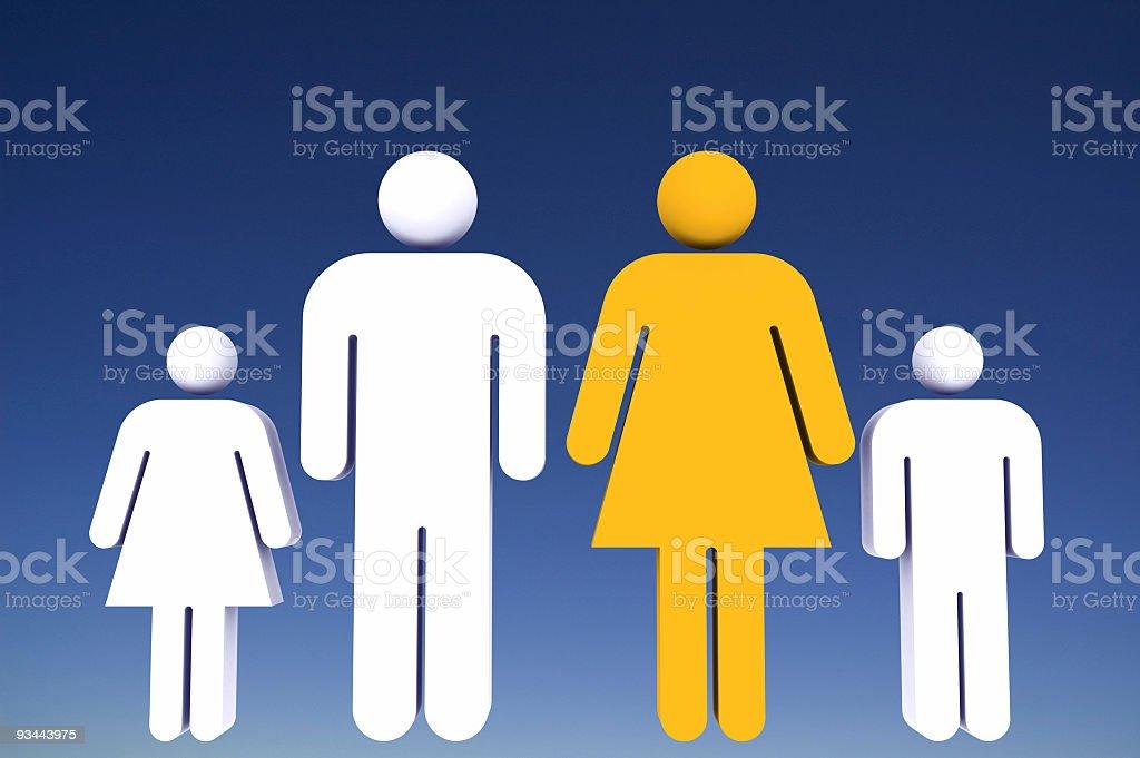 Familie Lizenzfreies stock-foto