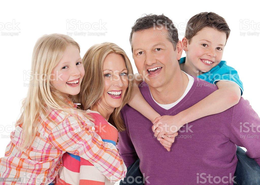 Family Piggyback royalty-free stock photo