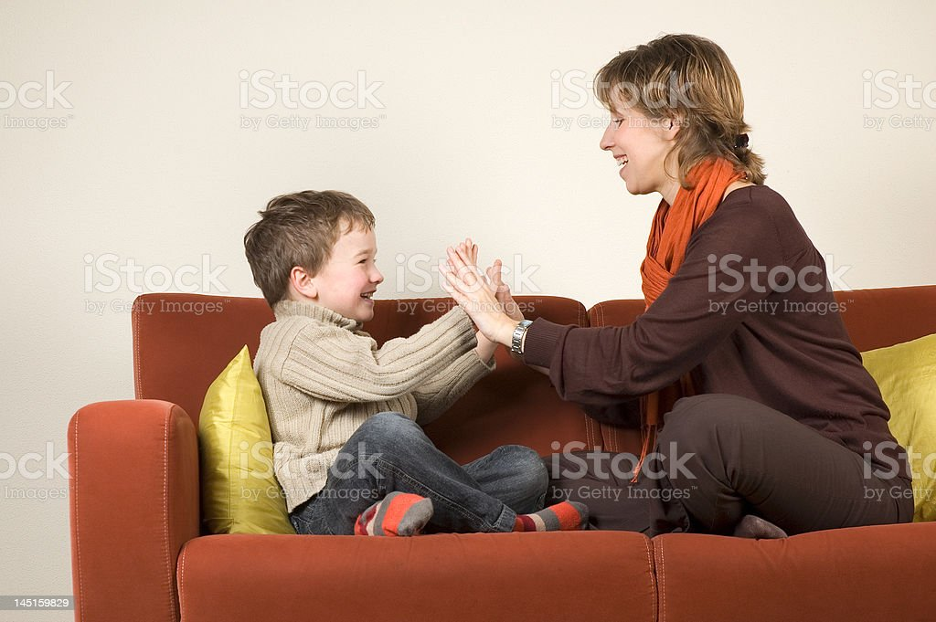 Family playing royalty-free stock photo