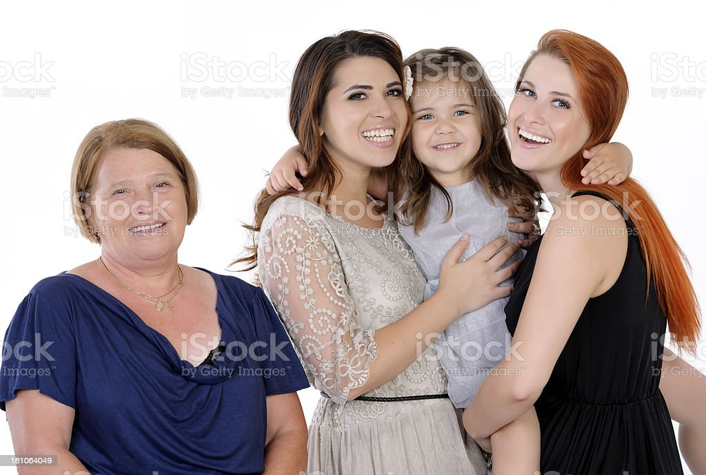 family portrait being cheerful royalty-free stock photo