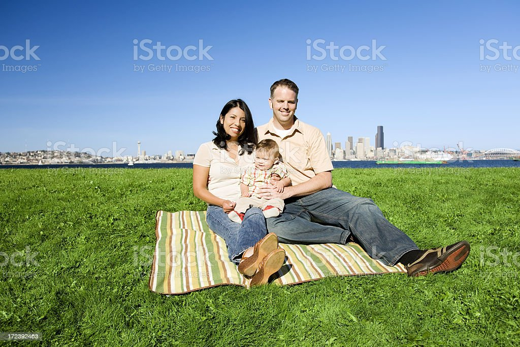 Family Portrait in a Seattle Park royalty-free stock photo