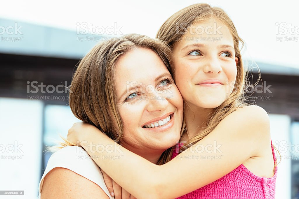 Family Portrait Mother and Daughter royalty-free stock photo