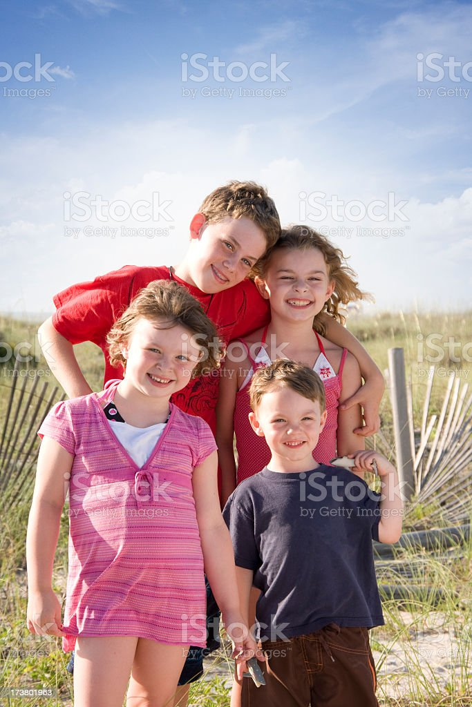 Family Portrait on the Beach royalty-free stock photo