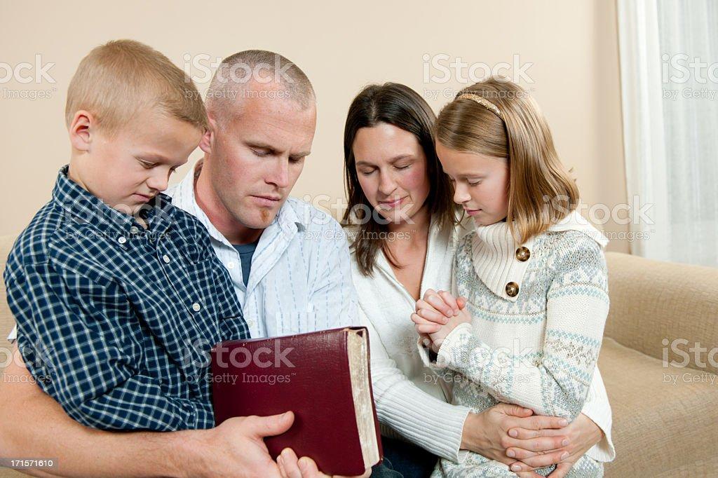 Family prayer royalty-free stock photo