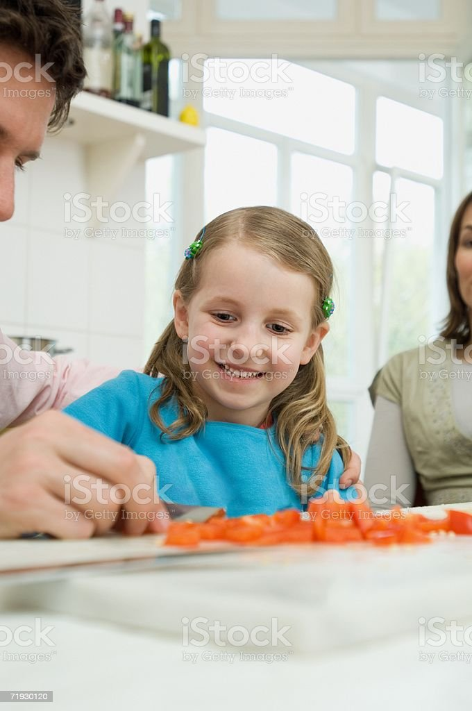 Family preparing food royalty-free stock photo