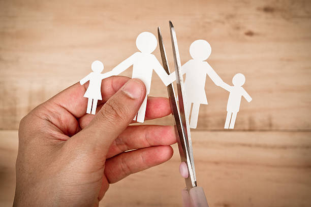 family problem - separation stock photos and pictures