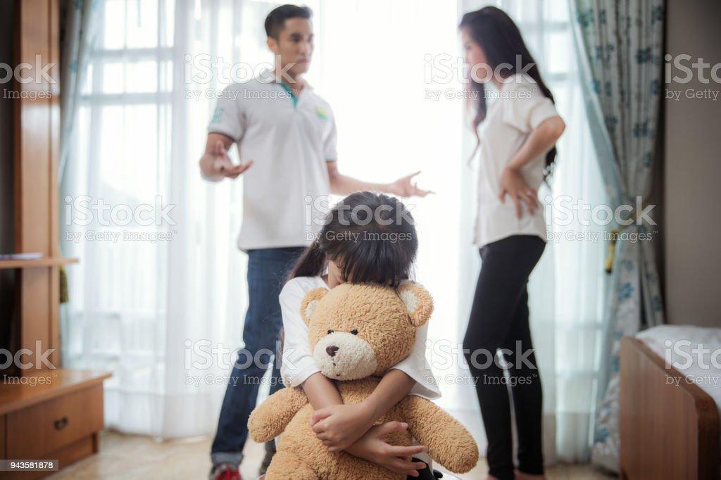 Family problem stock photo