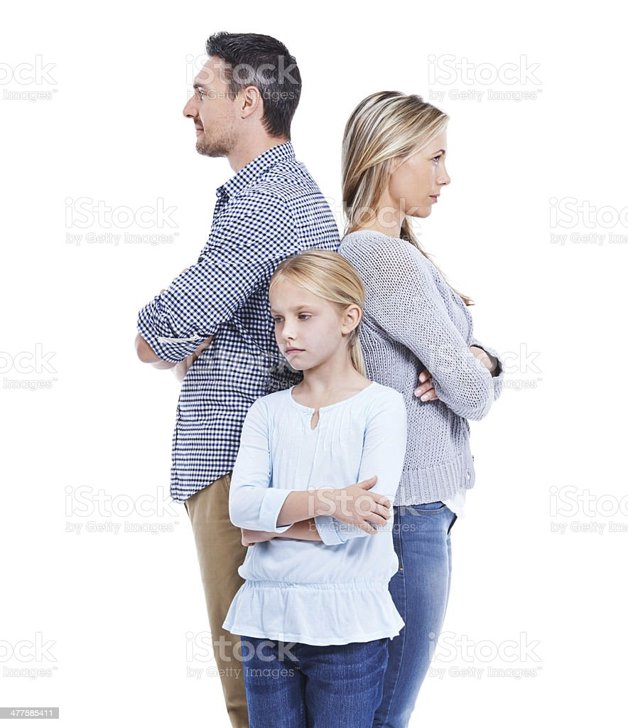 Family problems - Leaving no one unaffected stock photo