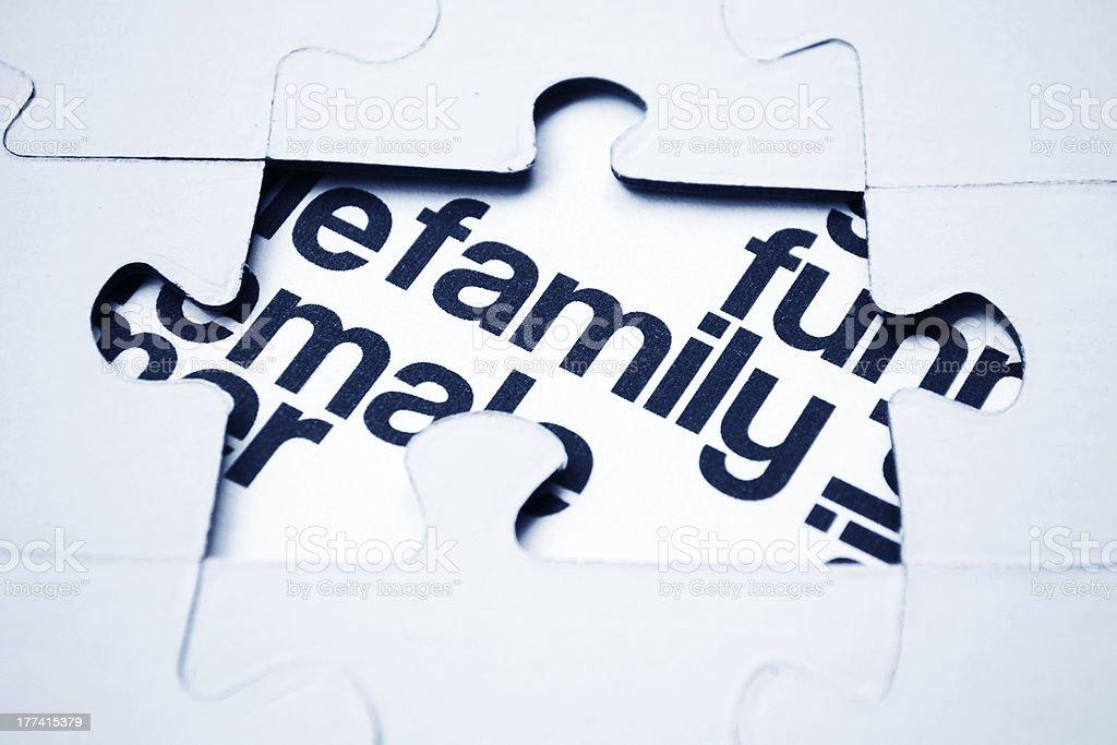 Family puzzle concept stock photo