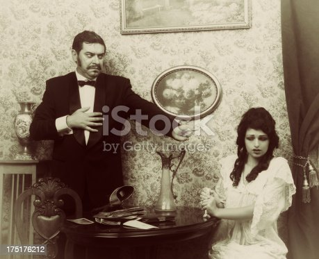 istock Family quarrel 2.Black and white version. 175176212