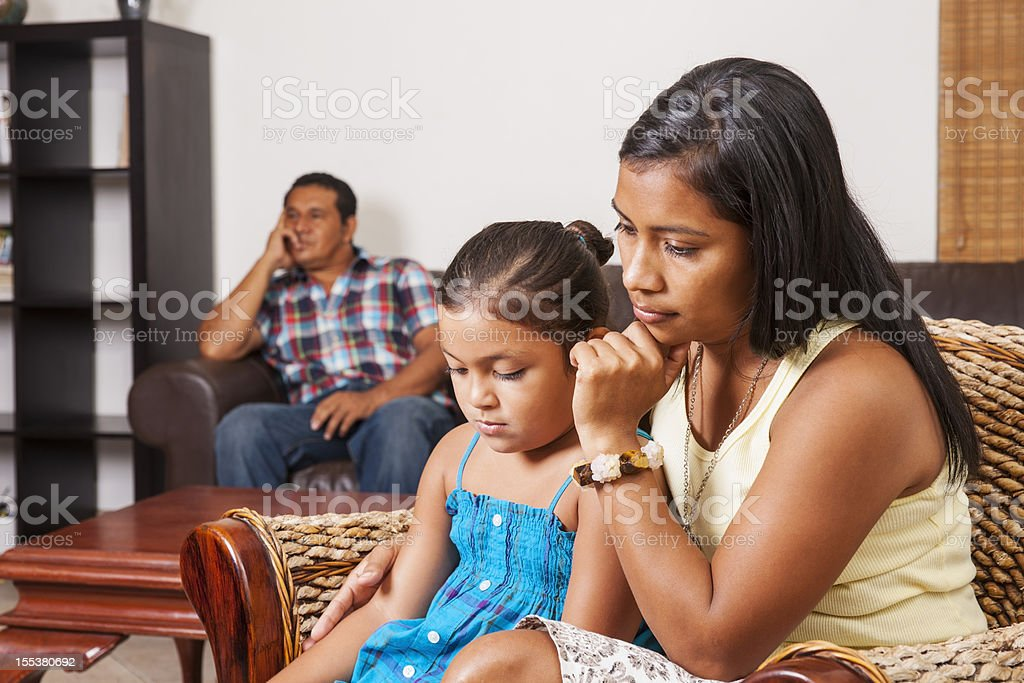 Family relationship problems stock photo