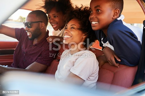 807410158 istock photo Family Relaxing In Car During Road Trip 807410282