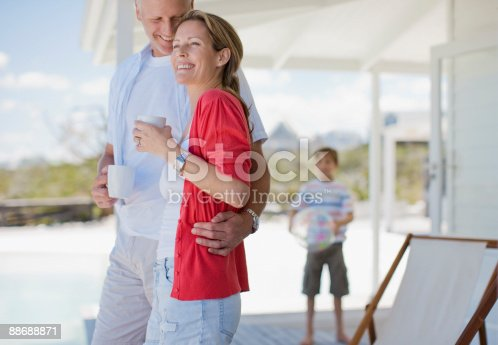 istock Family relaxing on deck 88688871