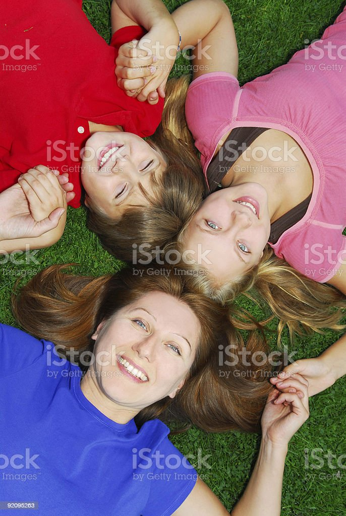 Family relaxing royalty-free stock photo