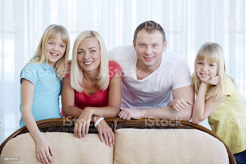 Family resting at home royalty-free stock photo
