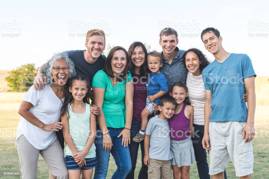 Family reunion! stock photo