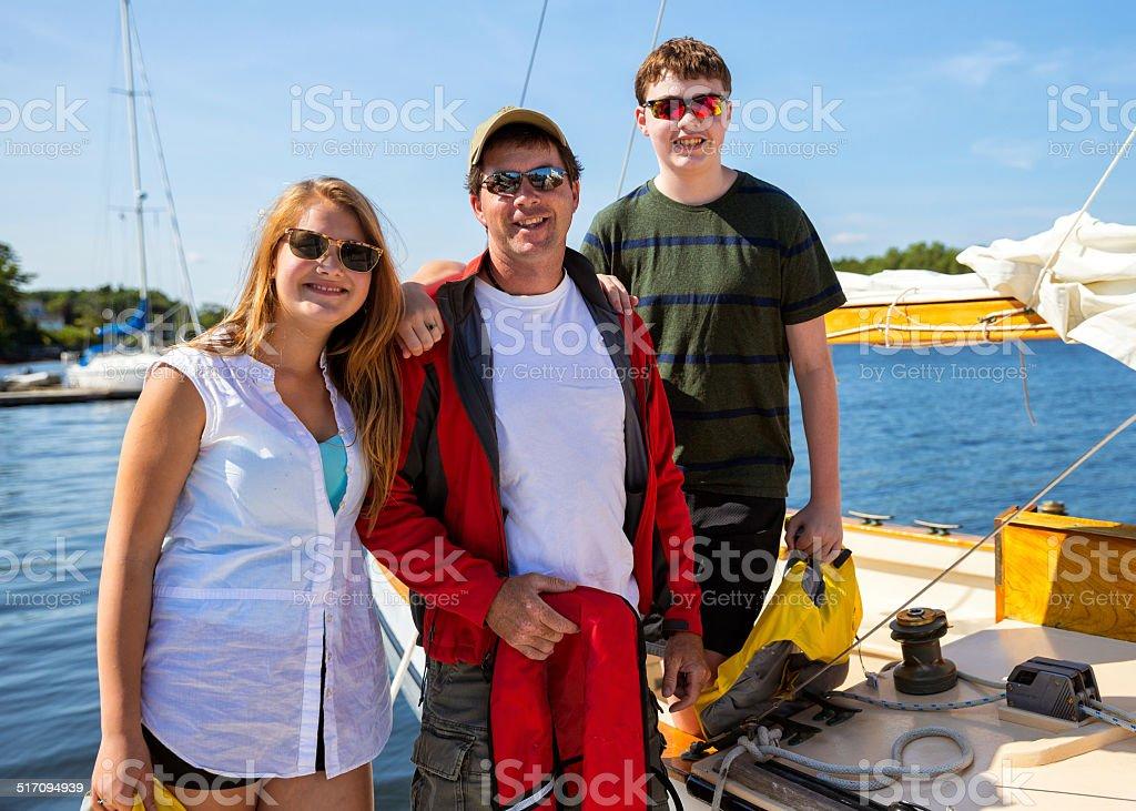 Family Sailboat Day stock photo