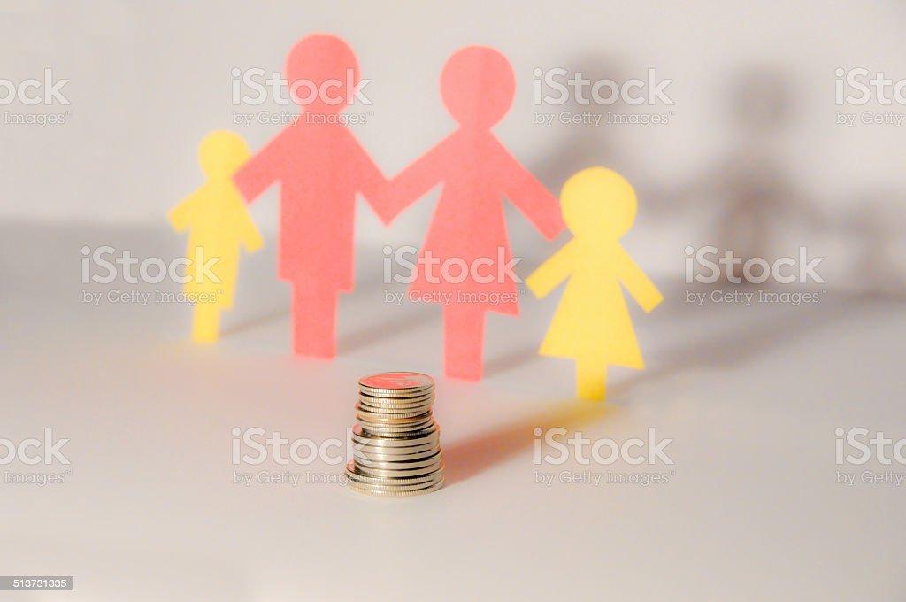 family saving stock photo
