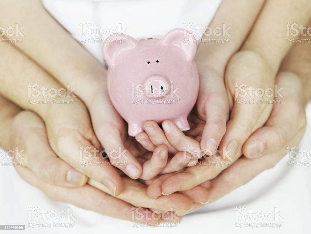 Family Savings stock photo