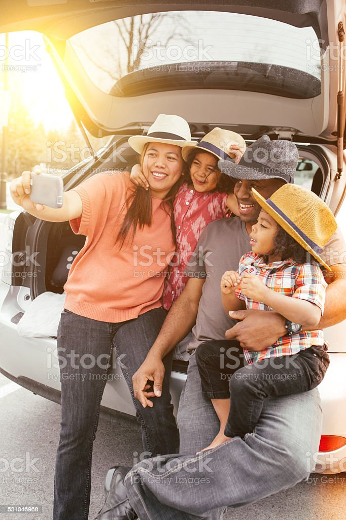 Family selfi stock photo