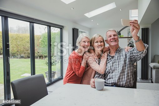 istock Family Selfie At Home 840845580