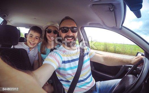 807410214istockphoto Family selfie in the car 544802012