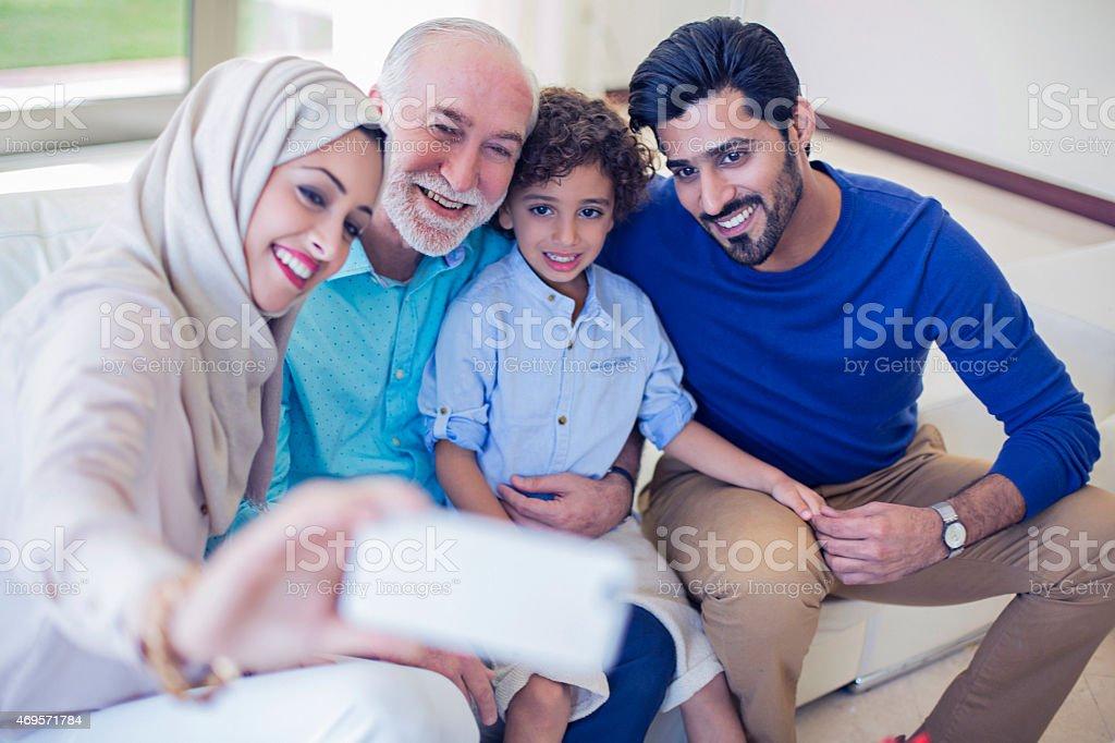 Family selfie stock photo