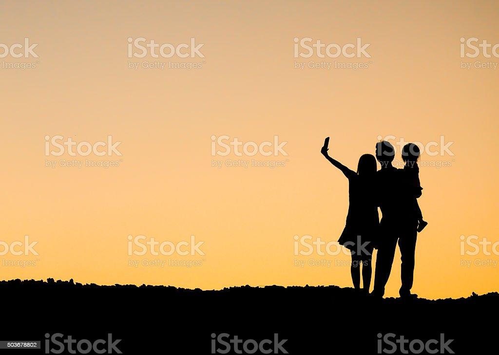 Family selfie royalty-free stock photo