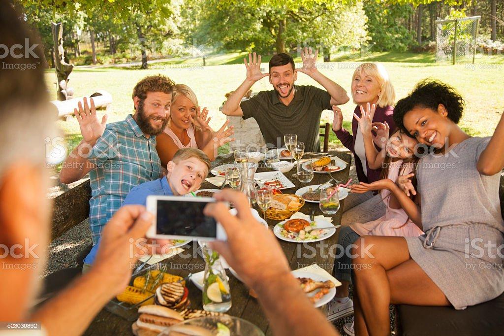 Семьи selfie стоковое фото