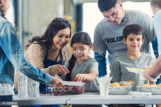 Family serving meals while they volunteer in soup kitchen together picture id471500470?b=1&k=6&m=471500470&s=612x612&h=4ej16iai z7as76axsmlabbidaubhgu5plzzrn6ppda=