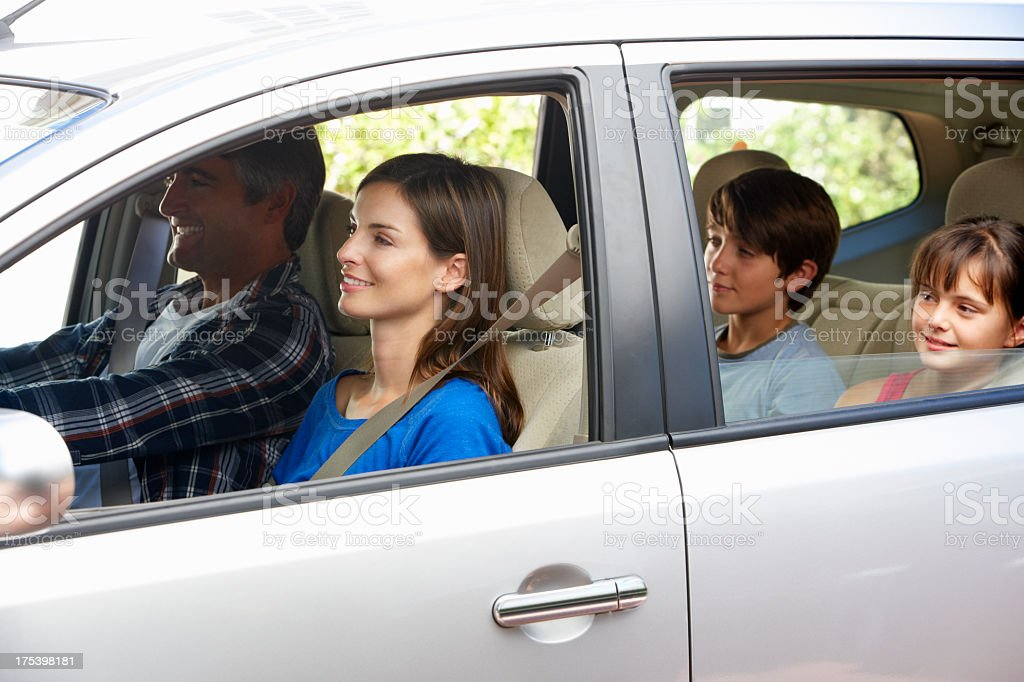 Family Setting Off On Car Journey royalty-free stock photo