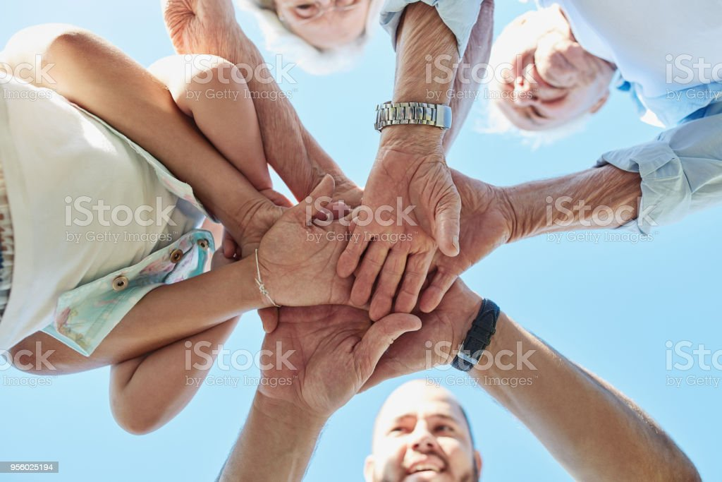 Family share a connection that'll never keep them apart stock photo