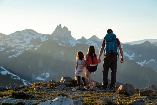 Familie teilt eine Liebe für die große Natur – Foto