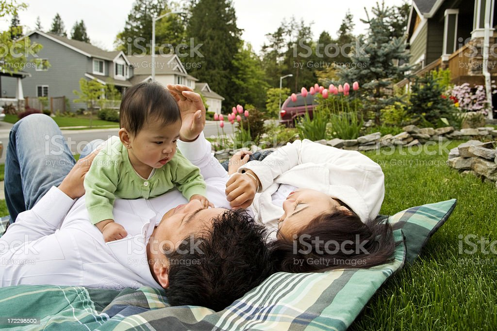 Family Sharing a Moment royalty-free stock photo