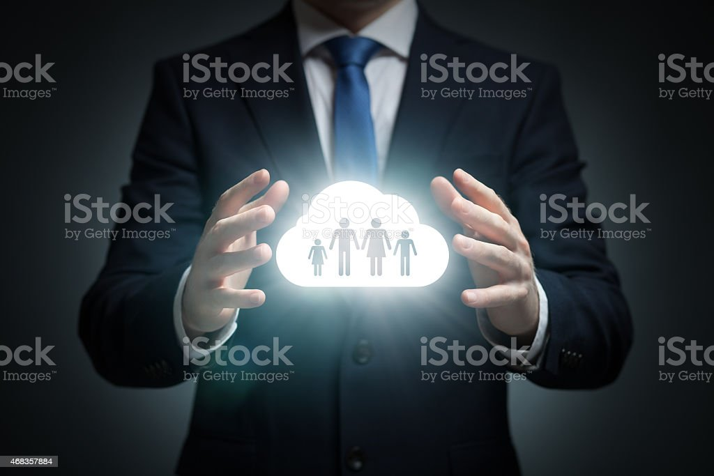 Family sharing cloud is what I would say royalty-free stock photo