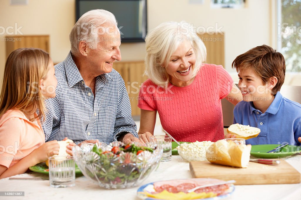 Family sharing meal royalty-free stock photo