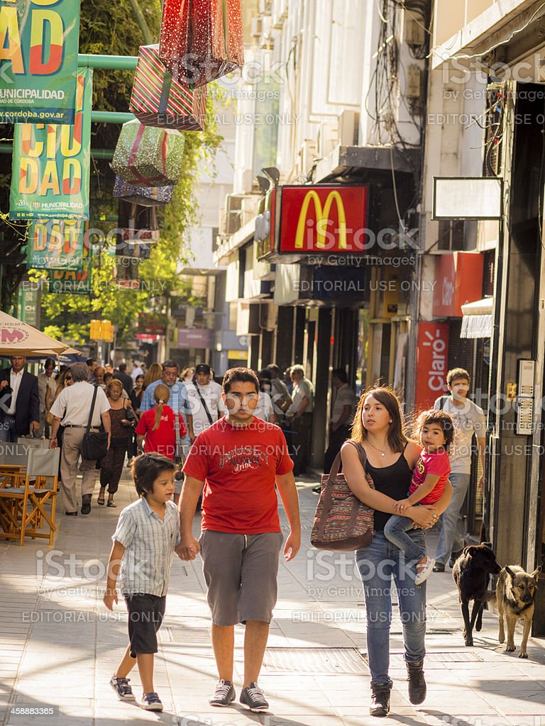 Family Shopping, Cordoba, Argentina royalty-free stock photo